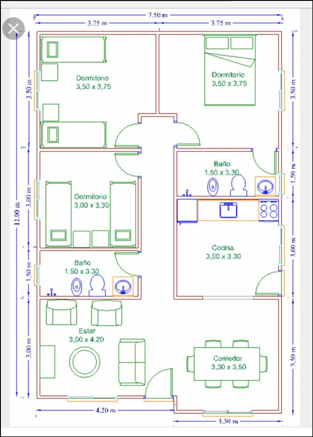 22++ Planos de casas con medidas trends