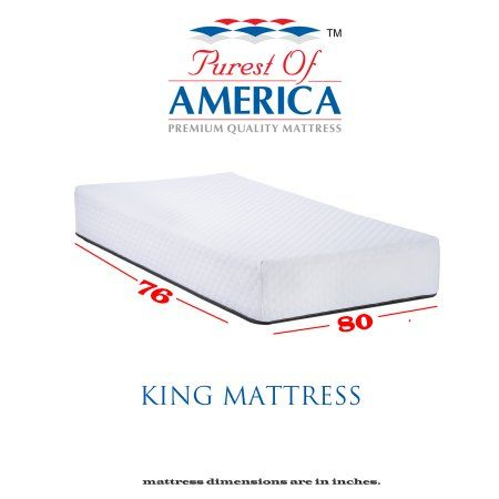 Purest Of America Amber 10 Inch King Memory Foam Mattress White Queen Memory Foam Mattress Queen Size Memory Foam Mattress King Size Memory Foam Mattress
