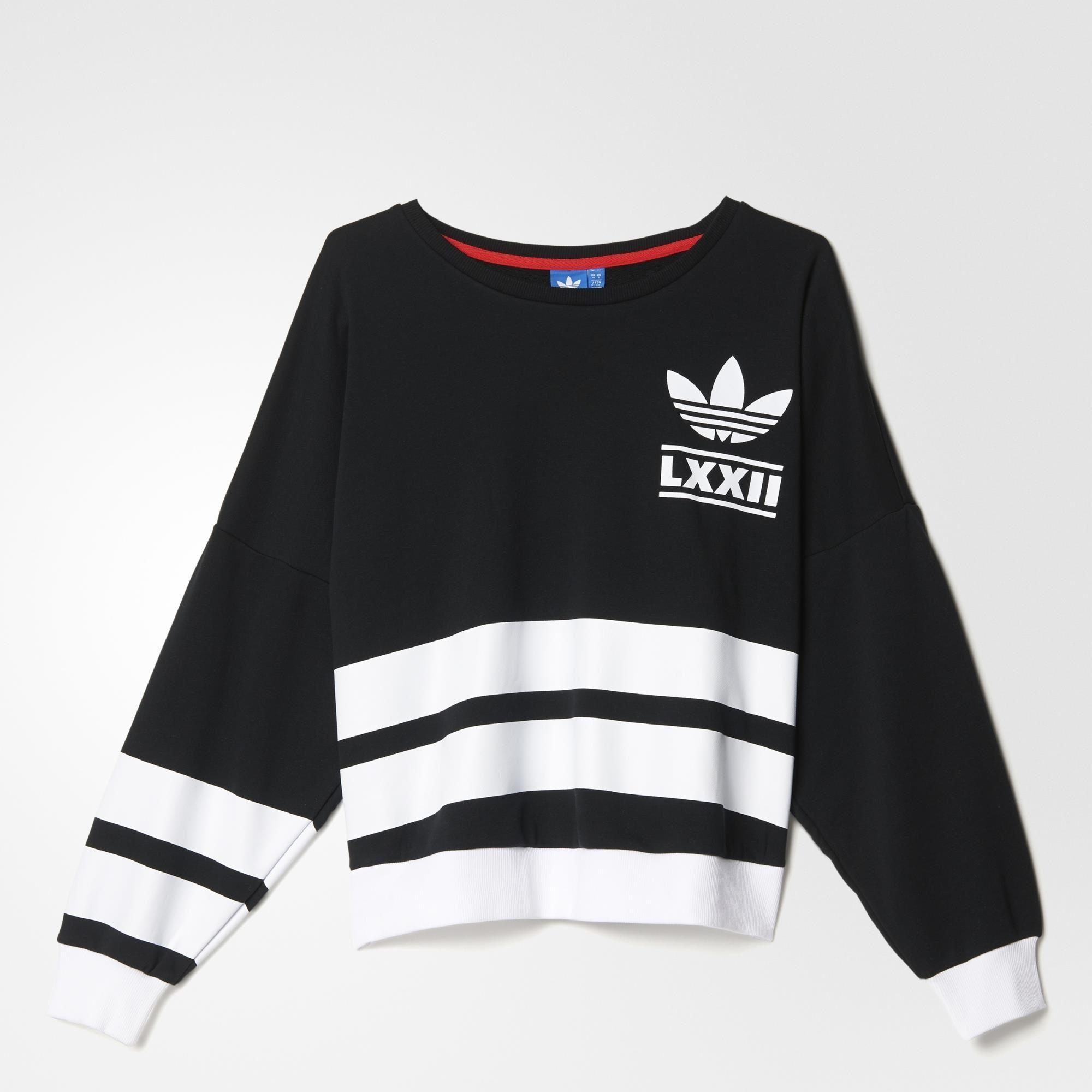 Adidas Berlin Logo 3 Stripes Crew Sweatshirt Black Adidas Us Striped Sweatshirts Adidas Women Black Sweatshirts [ 2000 x 2000 Pixel ]