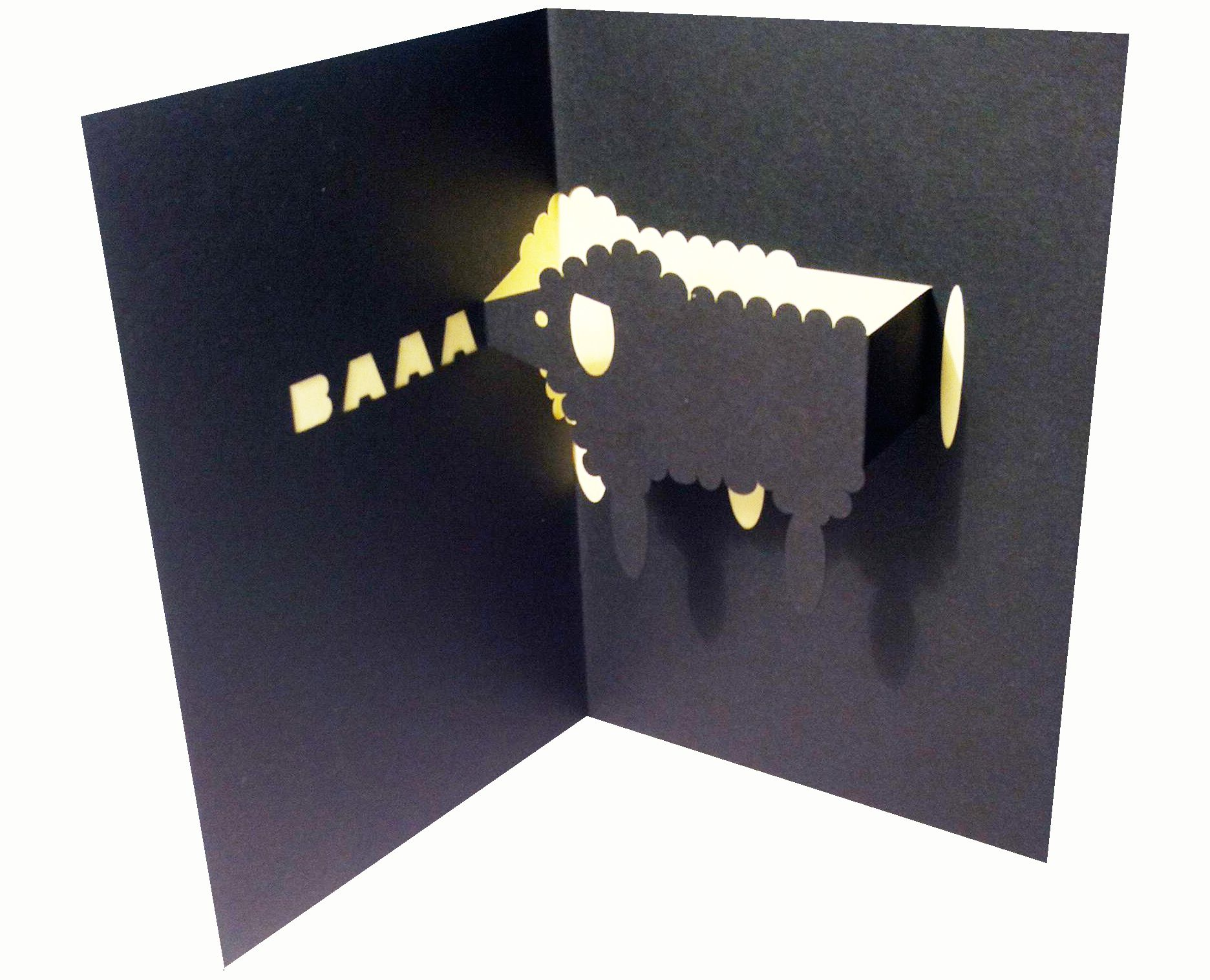 Baaaaaa A Sheep Pop Up Card Most Appropriate For Chinese
