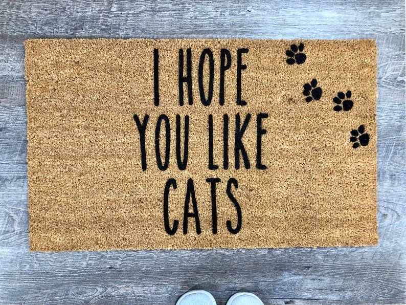 I Hope You Like Cats Custom Doormat Doormat Welcome Mat Etsy