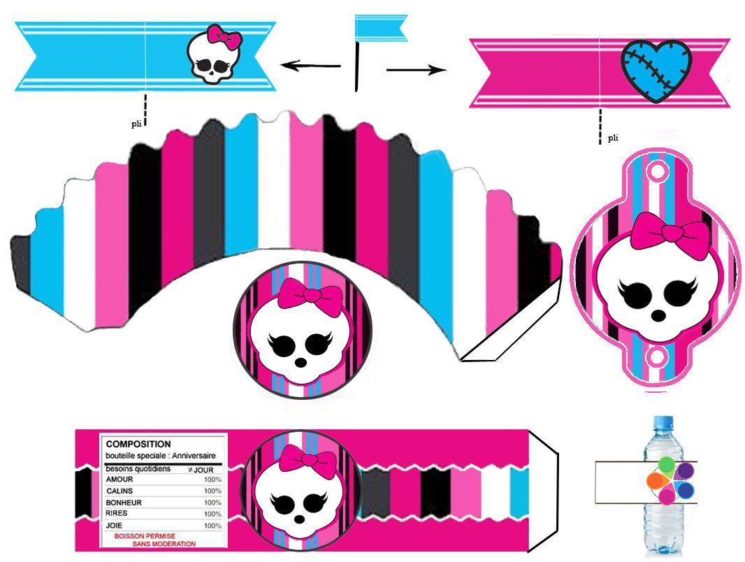 Moldes Para Festa Infantil Monster High Monster High Monster