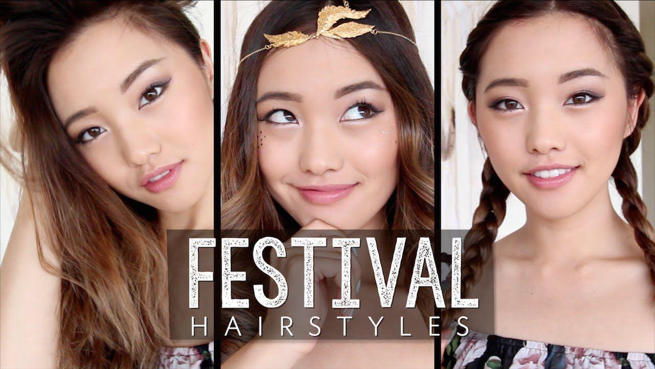 Easy Festival Hairstyles Fun Hairstyles Pinterest Hair Styles
