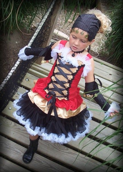 Diy Baby Girl Pirate Costume Custom Boutique...
