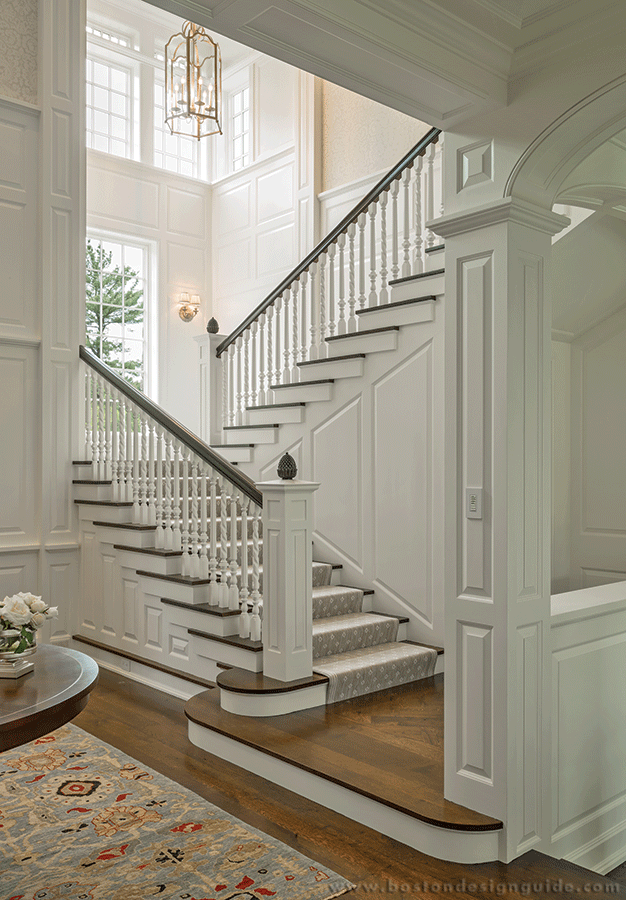 Catalano Architects Architecture And Interior Design In Boston   Stairway Designs For Homes   Limited Space   Entryway   Duplex India House   Step Side Wall   Traditional
