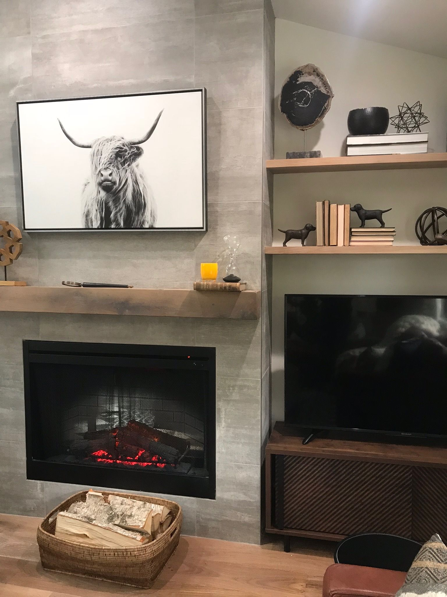 Brother Vs Season 6 Episode 1 The Journey Begins In Wiring Tv Above Gas Fireplace We Put Behind Art Case Homeowner Really Wants But When I Design That Isnt My Preference