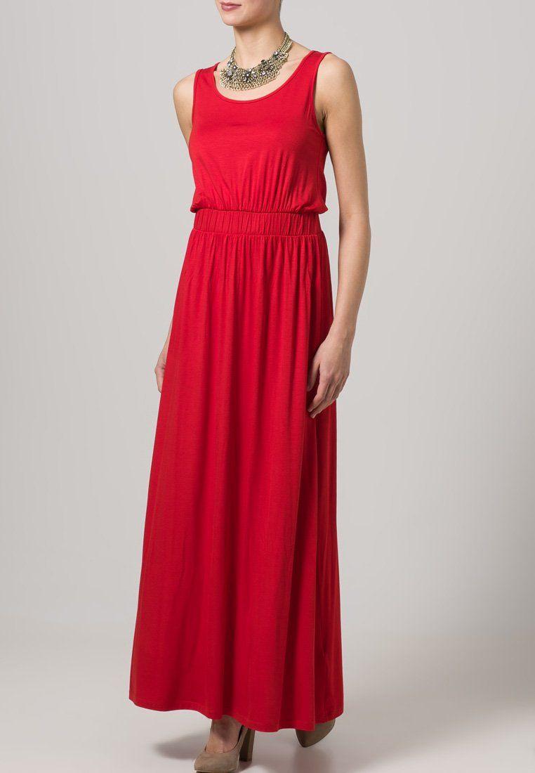 mint&berry vestido largo - rojo - zalando.es | maxi kleider