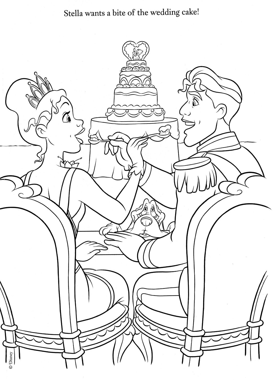 Disney Coloring Pages : Photo  Wedding coloring pages, Disney