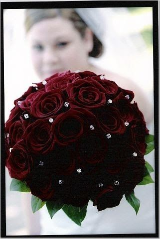 Black Baccara Rose Bouquet What My Bouquet Will Look Like Except
