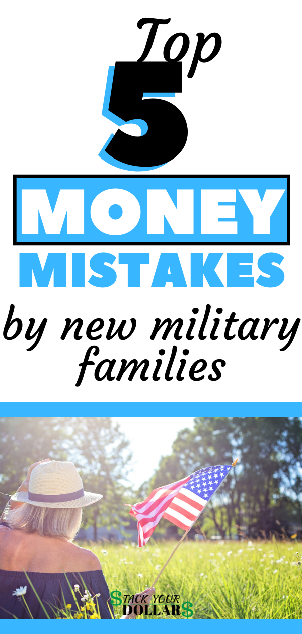 Enlisting in the military is sometimes associated with getting a huge, stable paycheck. While the stable paycheck part is true, it isn't necessarily huge, especially as a new recruit. These military money tips will help you avoid financial pitfalls that can lead to financial problems for years. Whether you are the new military personnel or you're a new military wife/spouse, you will want to learn about these common financial mistakes to avoid. #military #money #stackyourdollars #personalfinance