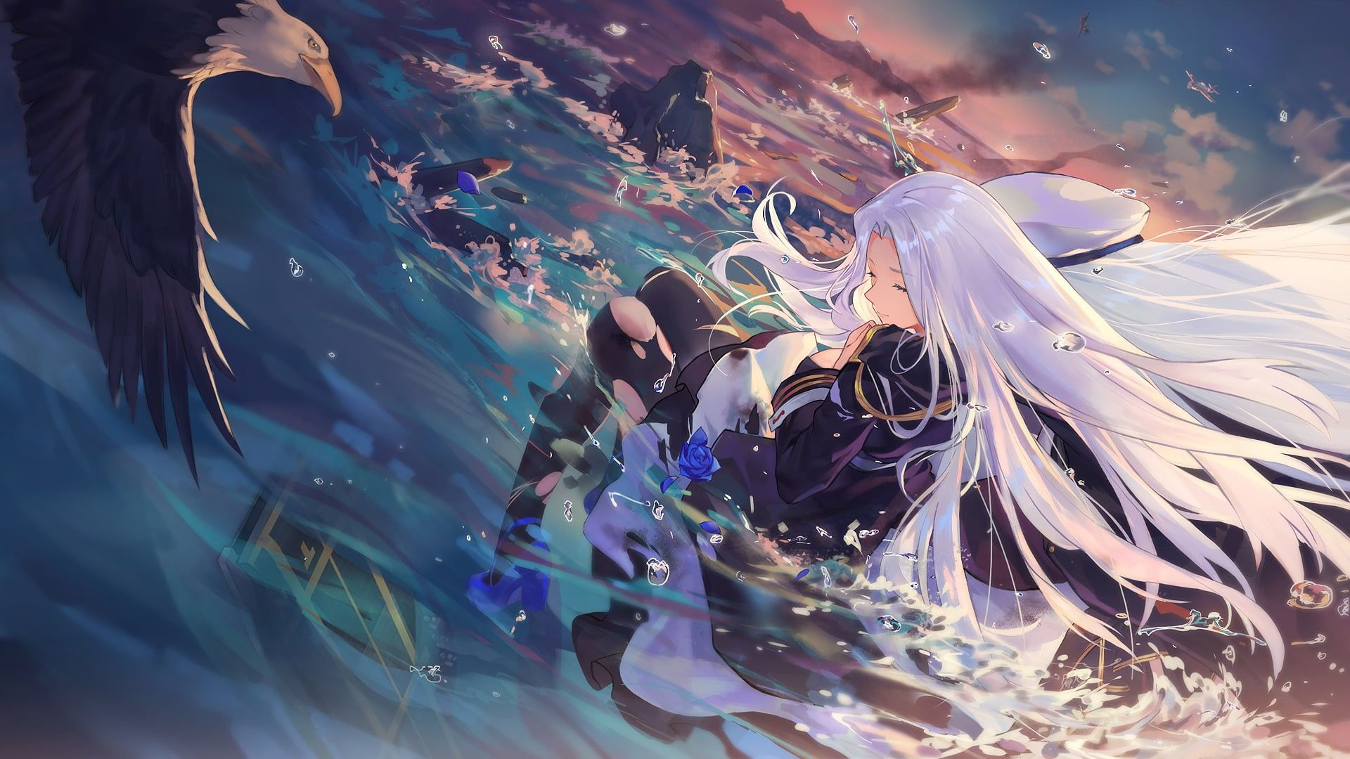 Female With White Haired Anime Character Anime Girls Azur Lane
