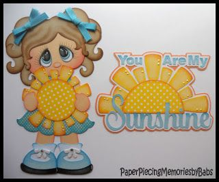 You are My Sunshine created by PAPER PIECING MEMORIES BY BABS, pattern by Cuddly…