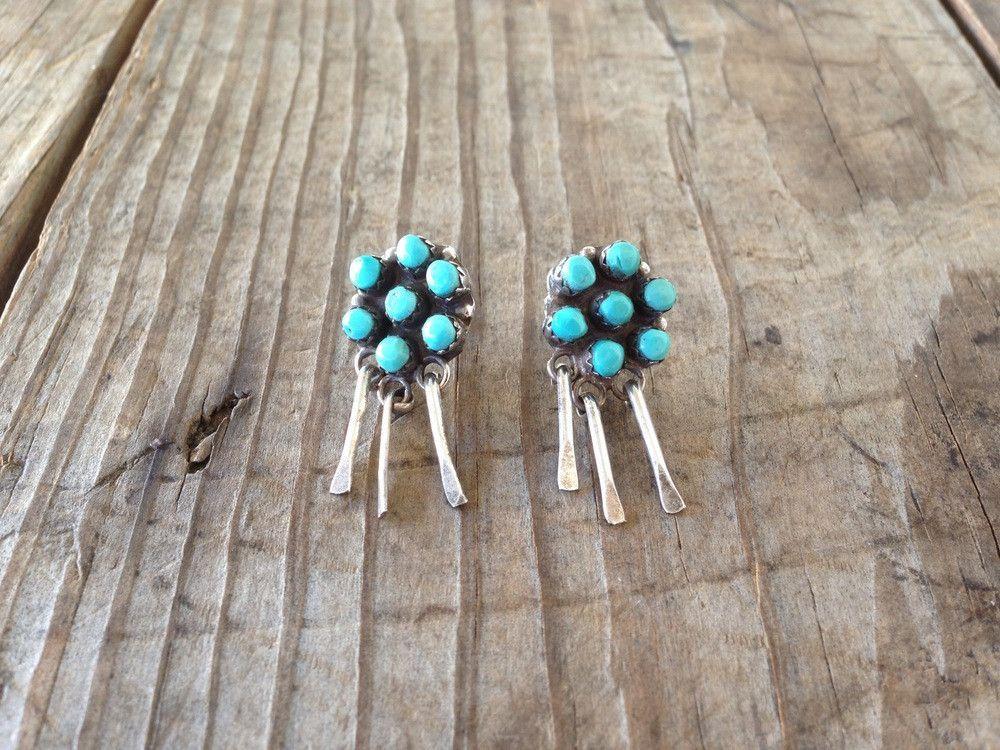 Vintage Flower Stud Earrings