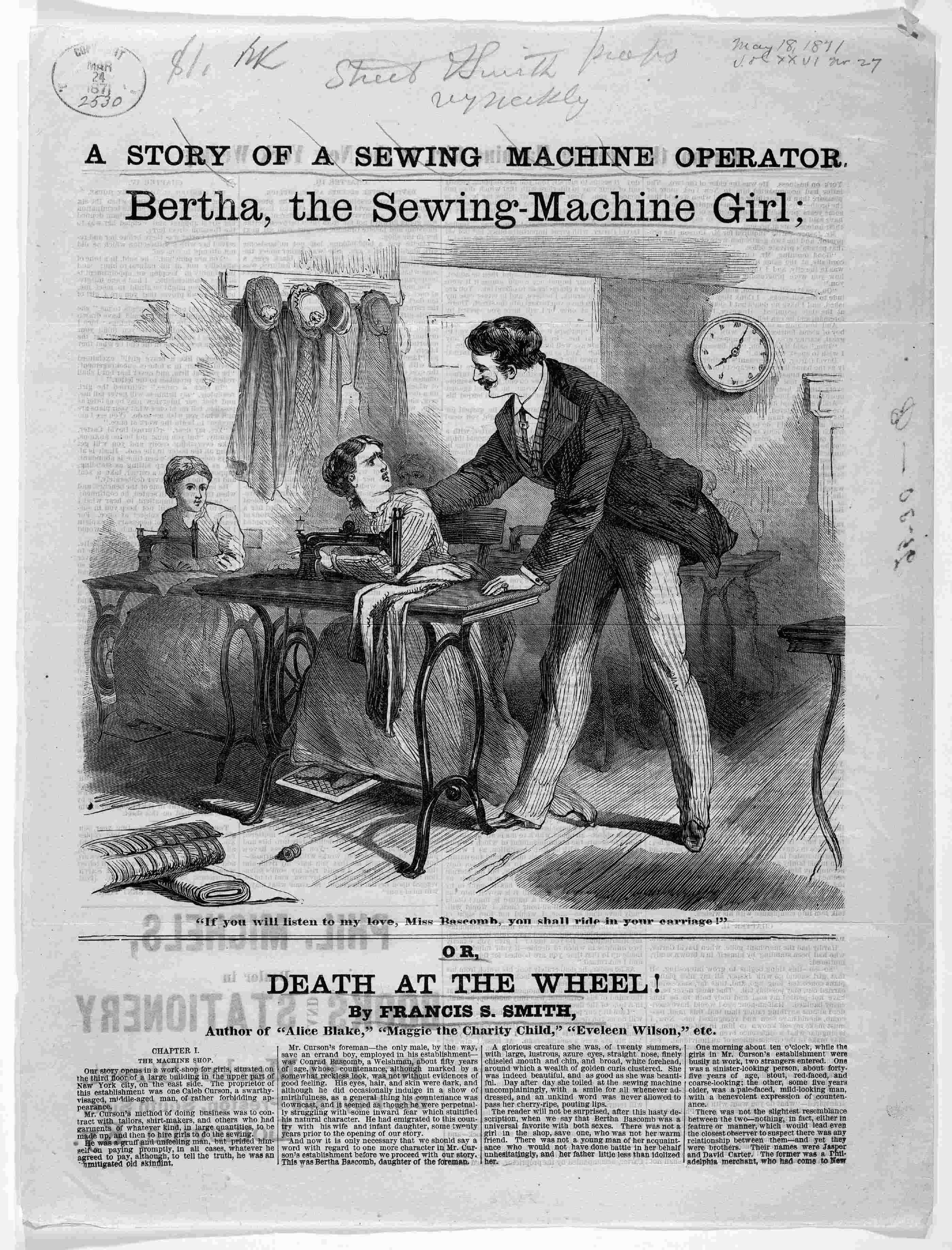 Image 1 Of 2 A Story Of A Sewing Machine Operator Bertha