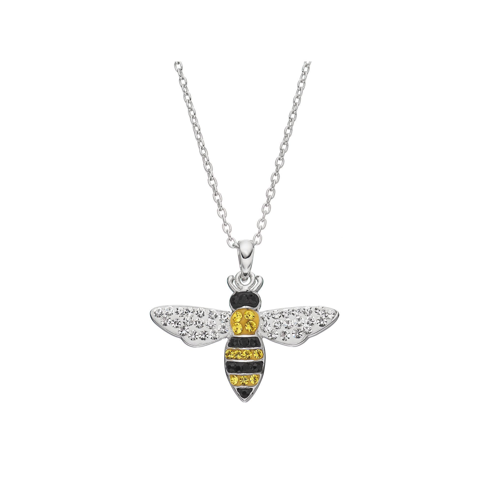 sterling bee necklace silver busy necklaces honey jewelry cosanuova pendant