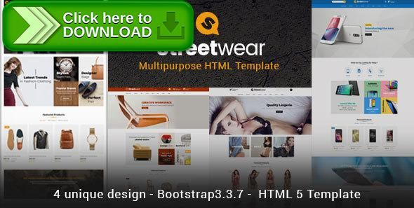 Free nulled Streetwear - Responsive Multipurpose E-Commerce HTML5
