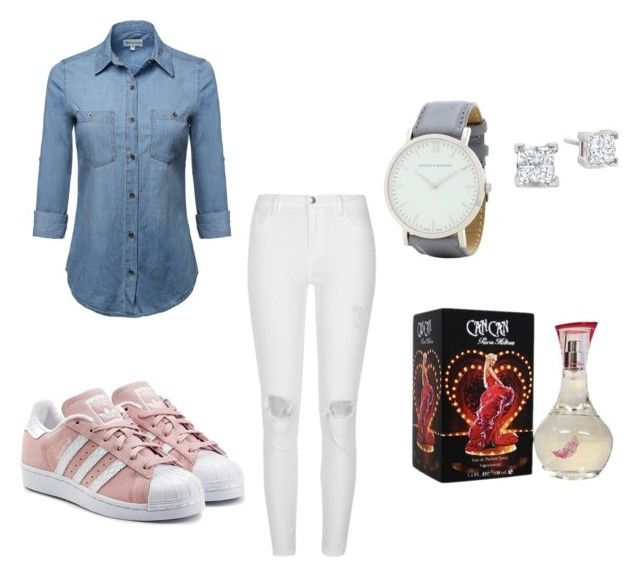 """""""Untitled #14"""" by meliporto on Polyvore featuring River Island, adidas Originals, Larsson & Jennings and Paris Hilton"""
