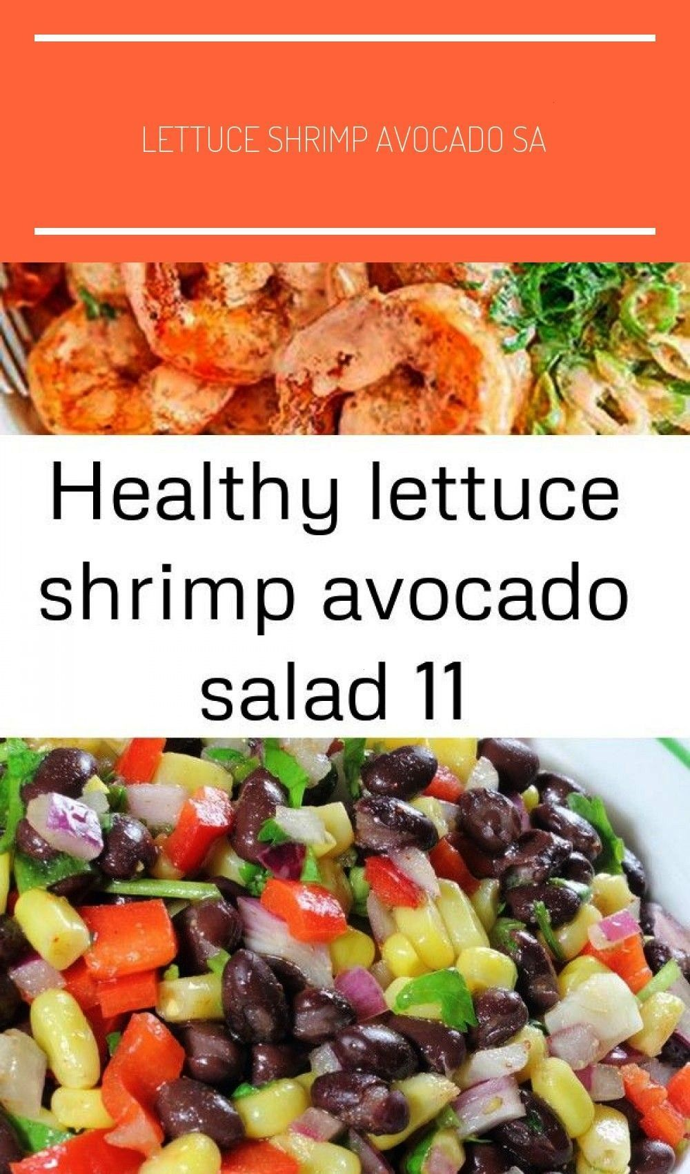 Shrimp Avocado Salad - - This chunky shrimp salad with lettuce and avocado is a healthy and light m