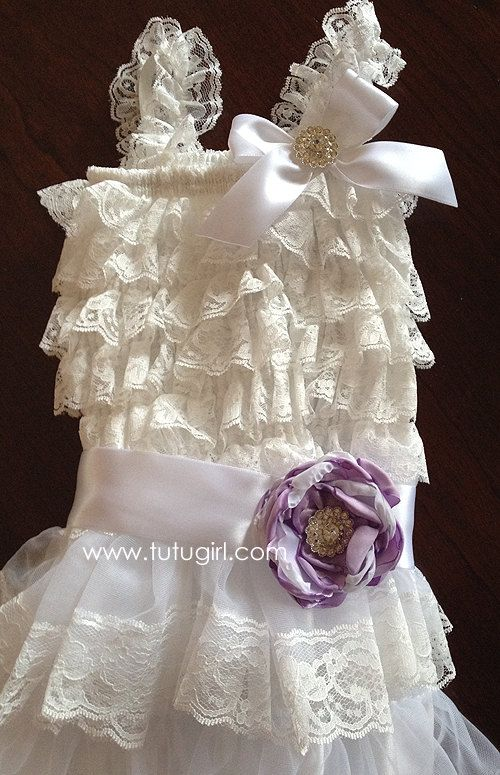 Flower Girl Dress  Lace Style Tutu Dress Orchid by TutuGirl, $47.99