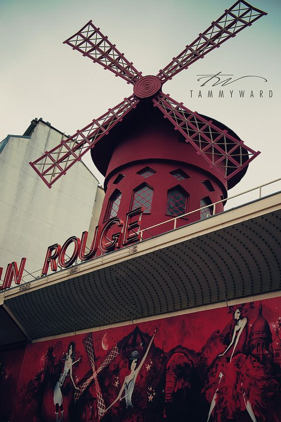 Paris France Moulin Rouge..stupid tourist trap I had to check out....service was rude and nasty, they pack you in like sardines...Vegas shows are better....