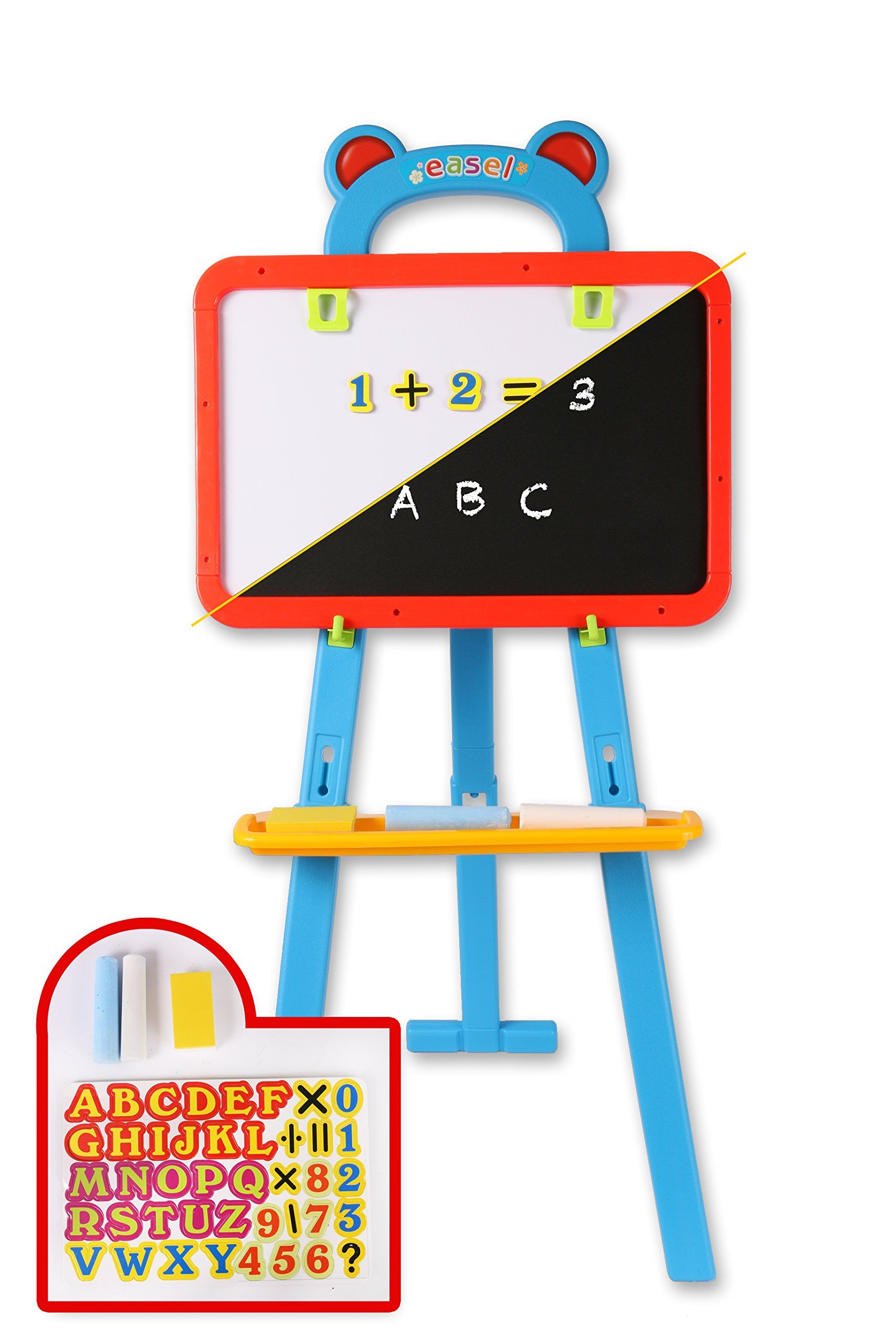 Kids chalkboard whiteboard easel 3 in 1 reversible chalk kids chalkboard whiteboard easel 3 in 1 reversible chalk magnetic dry erase and paint biocorpaavc Image collections