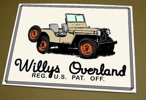 Willys Overland Cj2a Jeep Sign By Fandangographics On Etsy