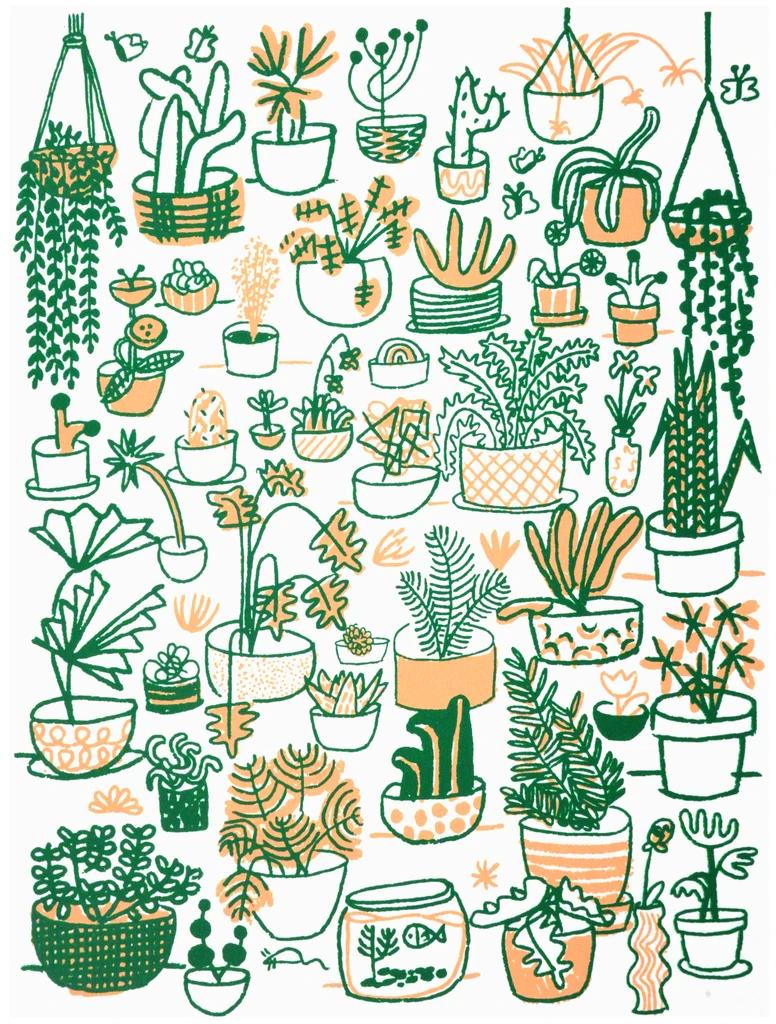 Plant Family - P9338 -   18 planting Illustration paintings ideas