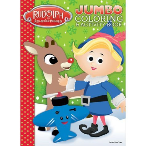 Rudolph The Red Nosed Reindeer Christmas Coloring Book Party City Rudolph Shinebright Christmas Coloring Books Rudolph Red Nosed Reindeer Book Crafts