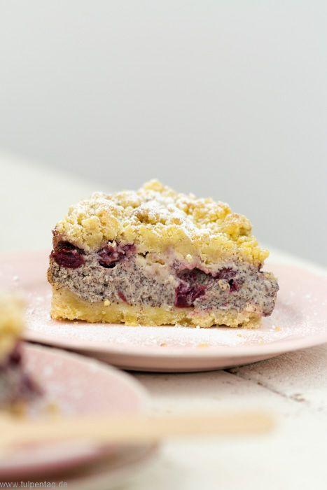 Streuselkuchen Mit Mohn Quark Und Kirschen Schattenmorellen Mohnkuchen Streusel Kuchen Ein Quark Streuselkuchen Streusel Kuchen Kirschkuchen Mit Streusel