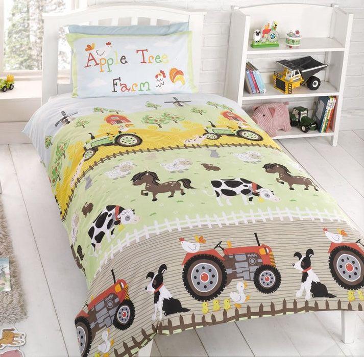 6 Appealing Animal Bedding For Kids Image Idea Toddler Bed Boy Toddler Bed Set Boys Farm Bedroom