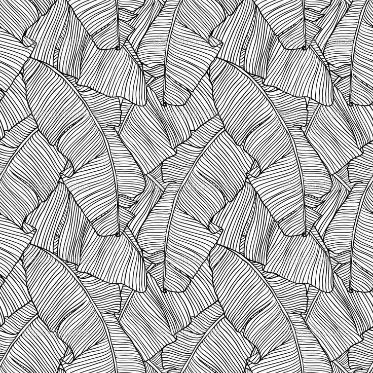 Vector Illustration Leaves Of Palm Tree Seamless Pattern Vector By Incomible Palm Leaves Pattern Seamless Patterns Seamless Pattern Vector
