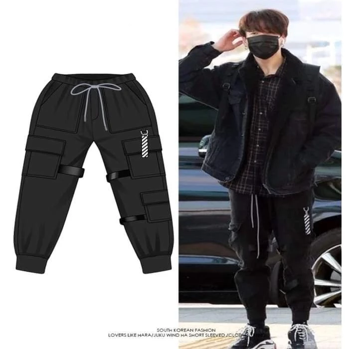 Bts Jungkook Boy With Luv Dance Practice Trousers Bts Inspired Outfits Dance Outfits Practice Practice Outfits