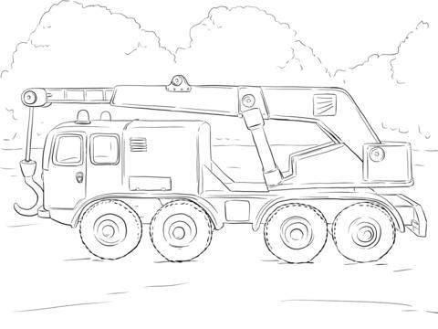 kraanwagen kleurplaat truck coloring pages