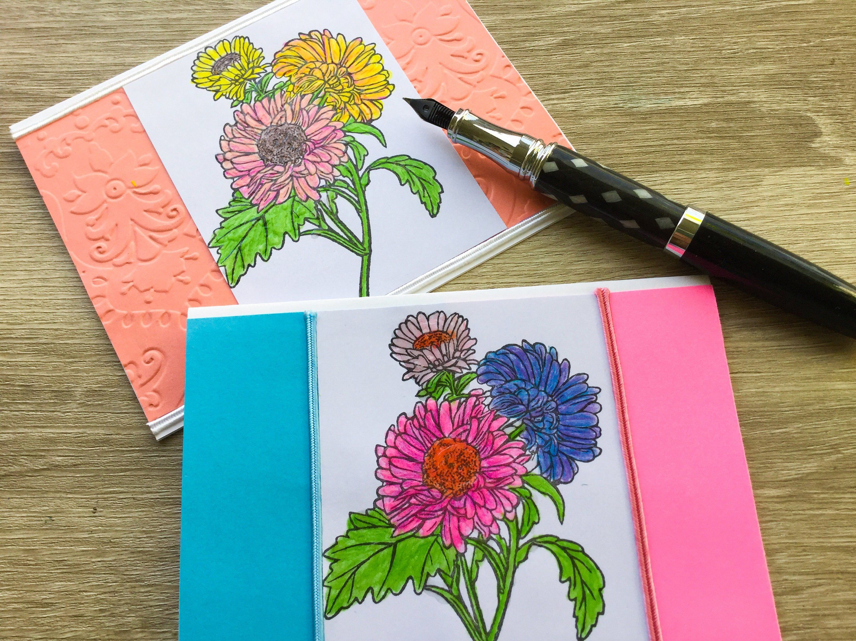 Aster Cards Pony Flower Birthday Cards Flower Birthday Cards