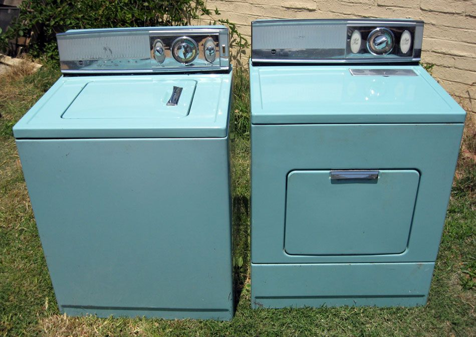 Amazing Turquoise Lady Kenmore Washer And Dryer The Back Panels Light Up When Operational Not Kitchen Per Se But At Least Adjacent