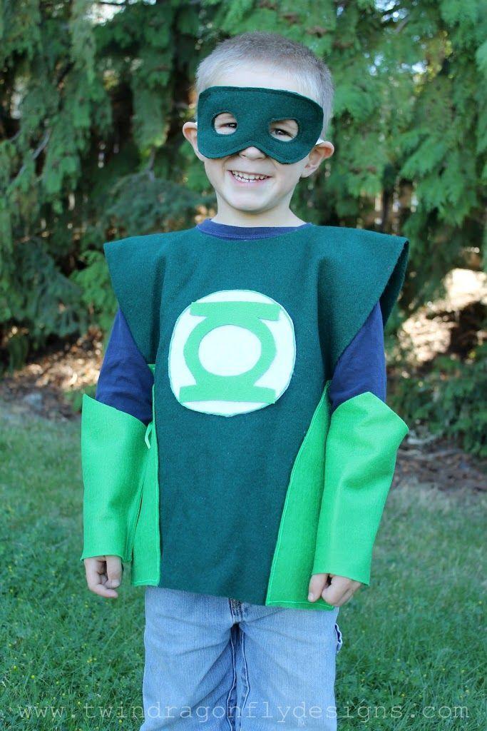 no sew super hero costumes tutorial halloween pinterest costume enfant deguisement and