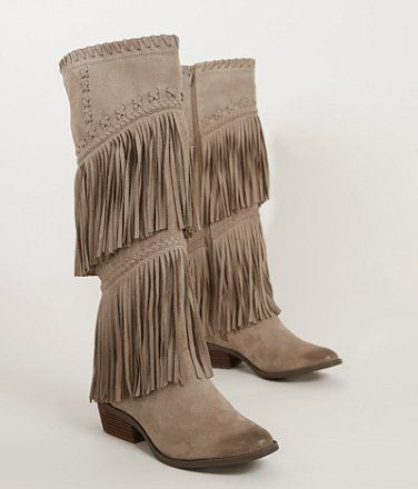 Not Rated G Funk Boot Women 39 S Shoes Buckle Boots Suede Fringe Boots Taupe Shoes