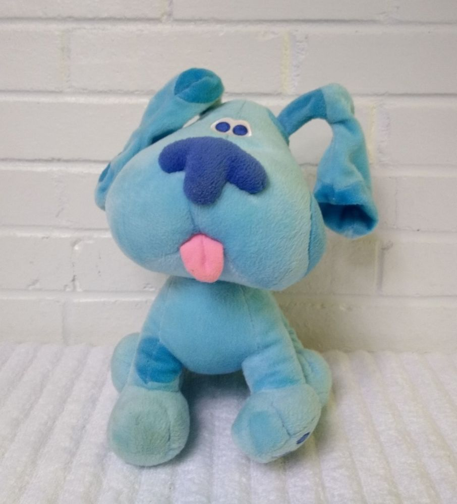 Viacom Blues Clues Blue Puppy Dog Stuffed Animal Plush 2005 Nick Jr