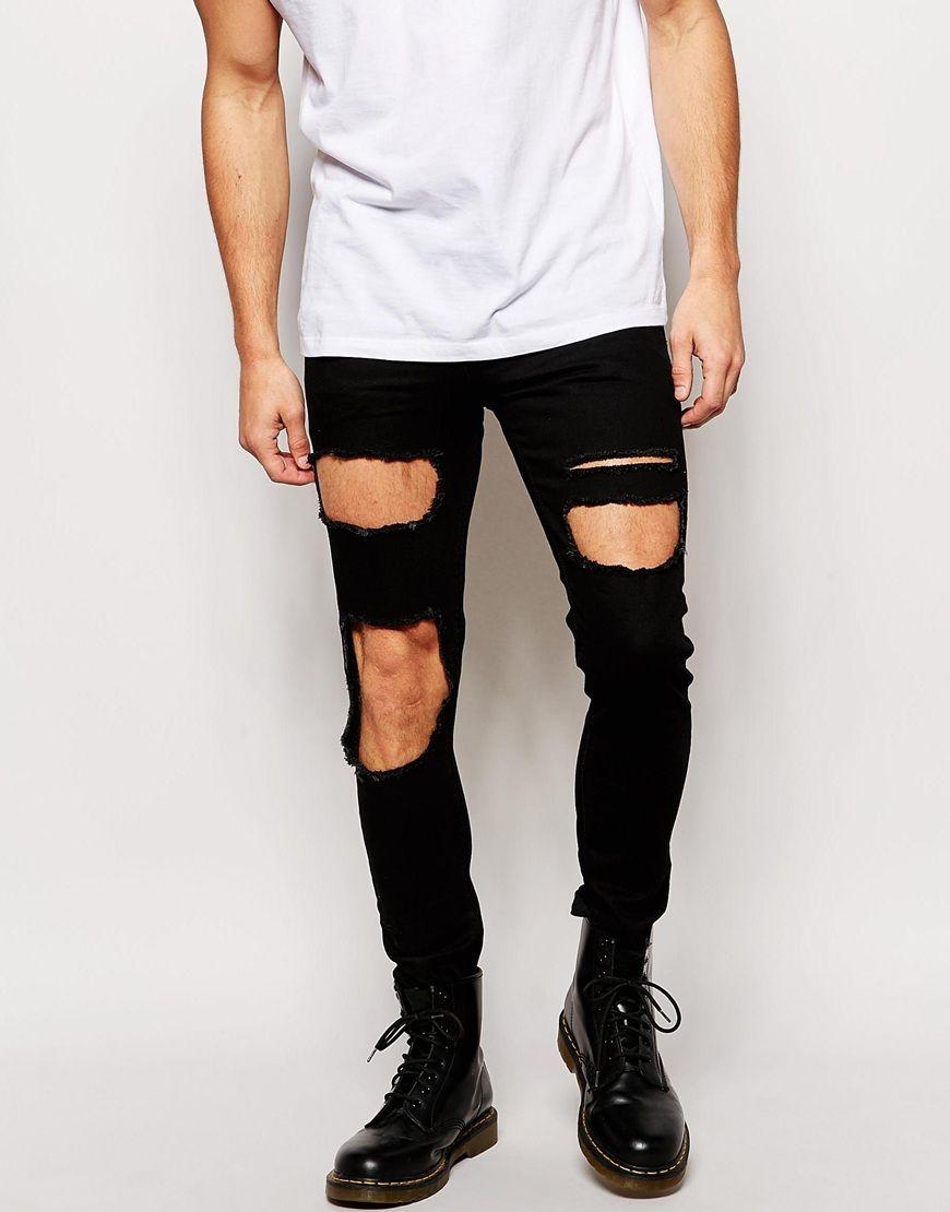Men's Denim Trending: 5 Ripped & Destroyed Denim Jeans - Men's Denim Trending: 5 Ripped & Destroyed Denim Jeans More