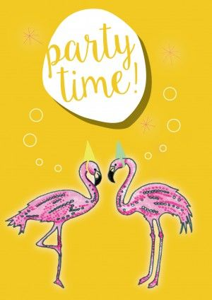 Flamingo Birthday Card Upload A Video And Really Get The Started