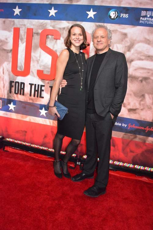 Peter Schnall (President of Partisan Pictures) and his daughter Isabelle.  Photo by:  Rose Billings/Blacktiemagazine.com http://blacktiemagazine.com/society_october_2016/USO_75th_Anniversary_Celebration.htm