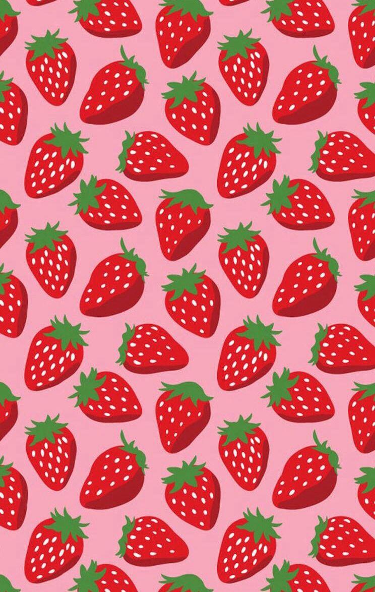 Strawberry Wallpaper Hojas Decoradas Fondos De Pantalla Wallpapers Del Telefono