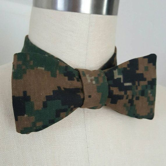 Check out this item in my Etsy shop https://www.etsy.com/listing/464820237/self-tie-bow-tie-bdu-military-formal