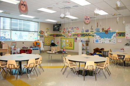Round Tables Furniture for Kids Playing Room in Preschool ...