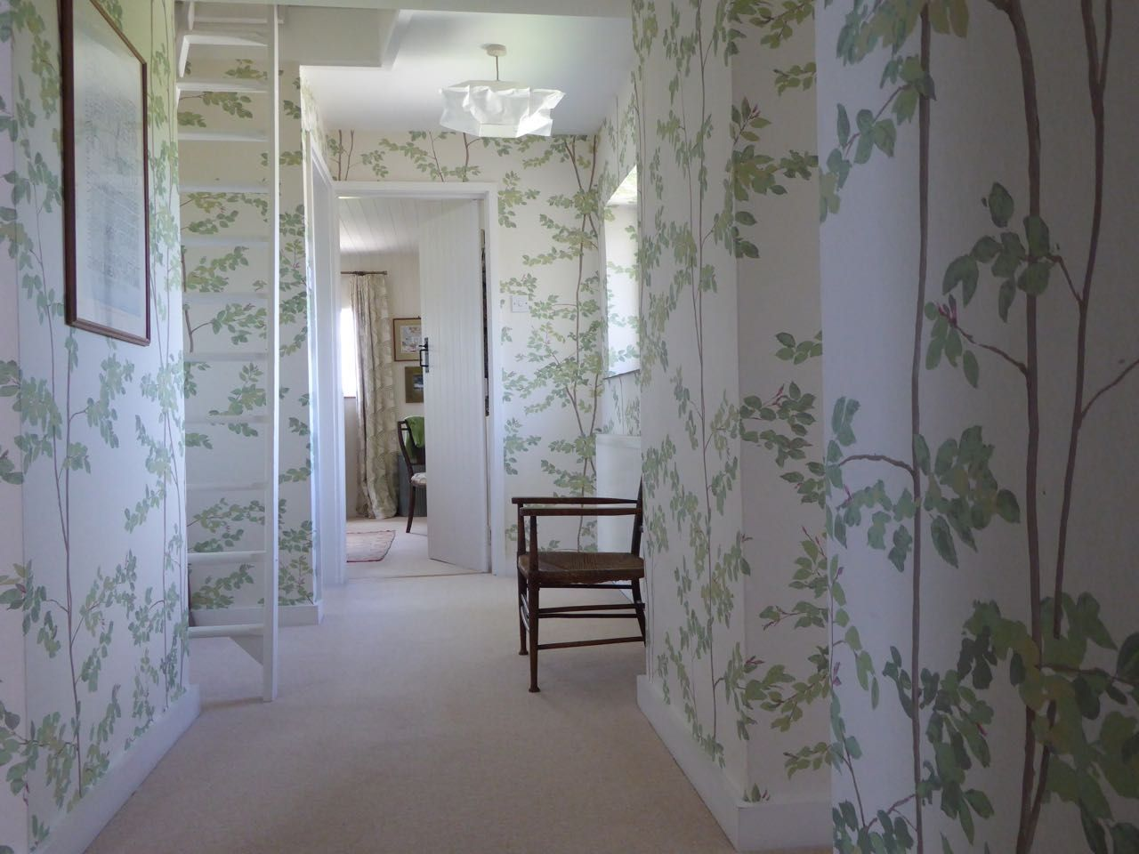 """By pastures green - Ben Pentreath Inspiration Lewis and Wood wallpaper in document """"beech"""" pattern"""