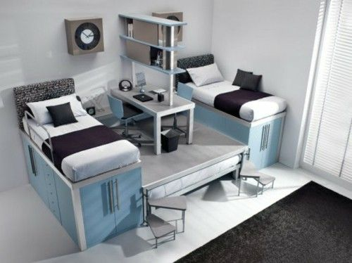 Modern Loft bed designs for boys by Timidey Spa single beds