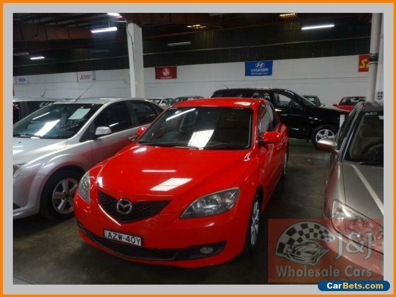 2006 Mazda 3 BK Maxx Sport Red Manual 5sp M Hatchback