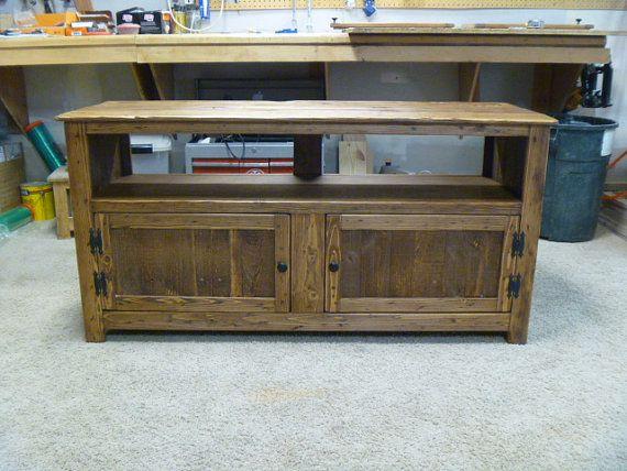 rustic palette meuble tv grillage a