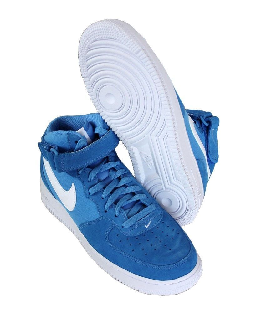 premium selection f1677 c8068 Nike Men s Air Force 1 Mid 07 Basketball Shoes 315123 409 Blue White Size  10.5  Nike  BasketballShoes