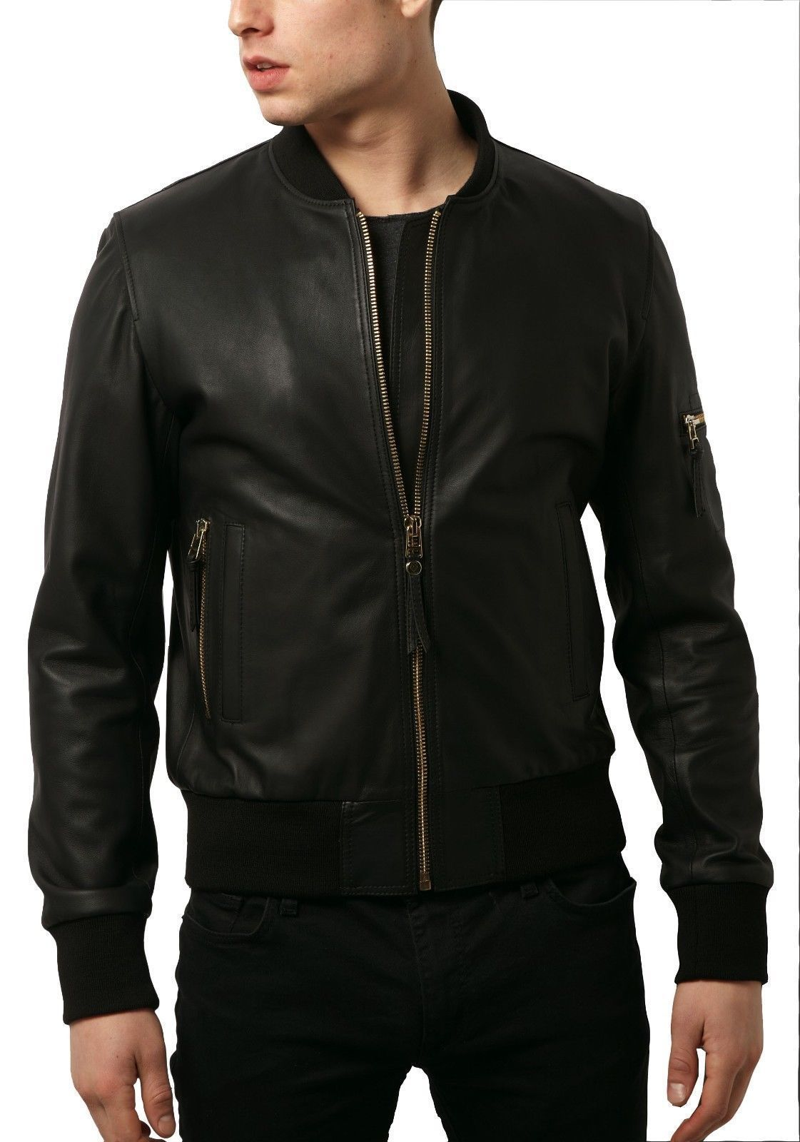Pin by Gary Sutton on Jackets Leather jacket men, Black